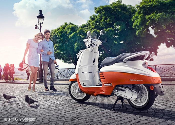 DJANGOシリーズ125ccのEVASION ABS